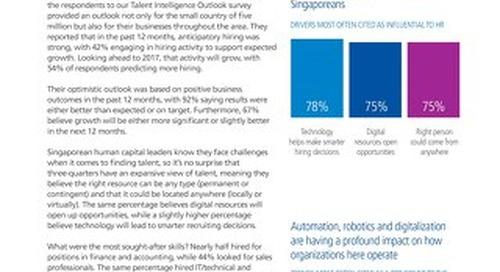 Singapore Fact Sheet - Talent Intelligence Outlook 2016