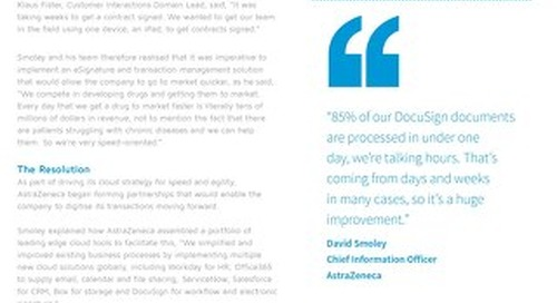 AstraZeneca Serves Patients 5x Faster with DocuSign