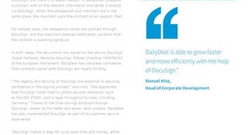 DailyDeal Closes More Deals in Less Time with DocuSign