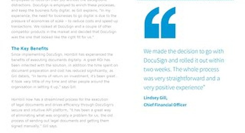 Hornbill Streamlines the Execution of Legal Documents and Drives Efficiency with DocuSign