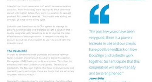 LinkedIn Realises Revenue 5x faster with eSignatures