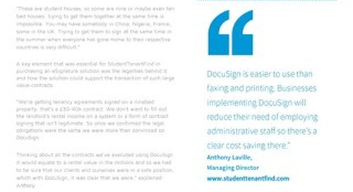 StudentTenantFind Sees Significant Business Growth and Clear Cost Savings with DocuSign