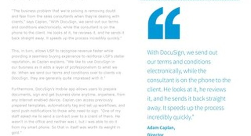 Unique Sales Professionals Digitises the Recruitment Process with DocuSign