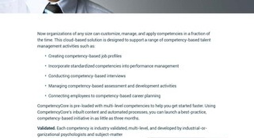 CompetencyCore Brochure