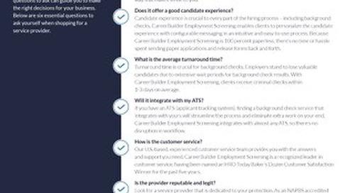 Employment Screening Checklist