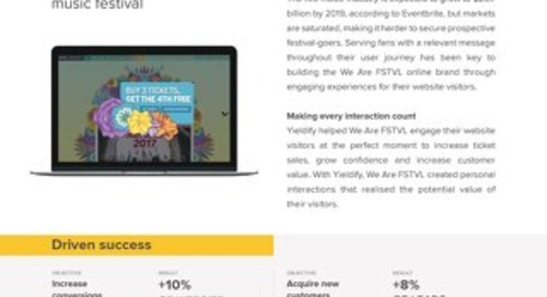 Yieldify case study - We Are FSTVL