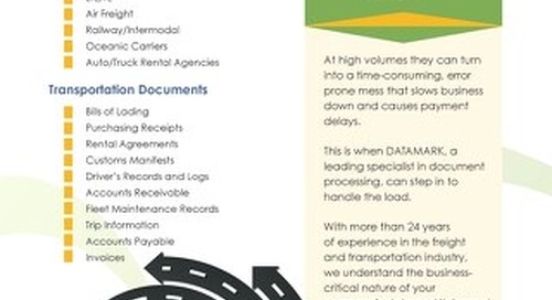 Transportation Document Processing Brochure
