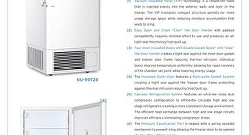 Blizzard Ultralow Freezer Product Flyer