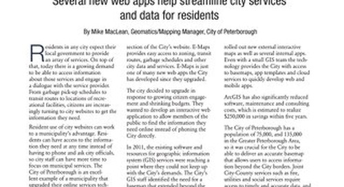 City of Peterborough Increases Efficiencies and Reduces Spending with GIS Solutions