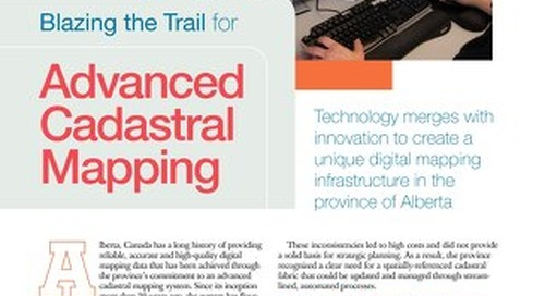 Blazing the Trail for Advanced Cadastral Mapping