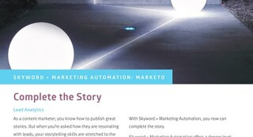 Marketo Integration Skyword + Marketing Automation