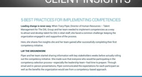 Client Insight - DXL Group