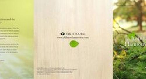 YKK® NATULON® and Organic Cotton Corespun zipper
