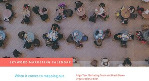 Skyword Marketing Calendar Overview