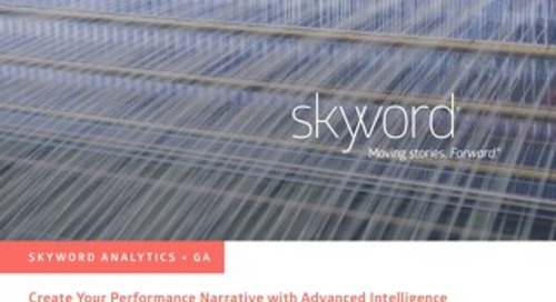 Skyword Google Analytics Integration