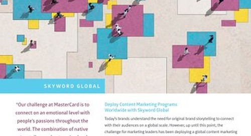 Skyword Overview for Global Content Marketing Programs