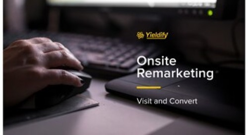 Yieldify 'Visit and Convert' - onsite remarketing product brochure