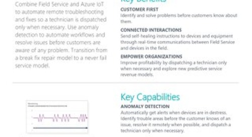 Microsoft Dynamics 365 for Field Service - Connected Field Service Datasheet