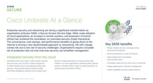 Cisco Umbrella at a glance