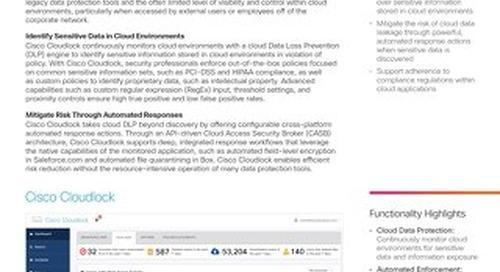 Cisco Cloudlock: Secure Cloud Data