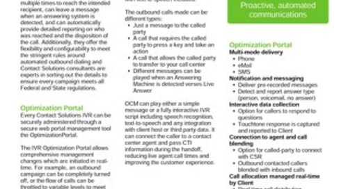 Proactive Outbound IVR Solutions