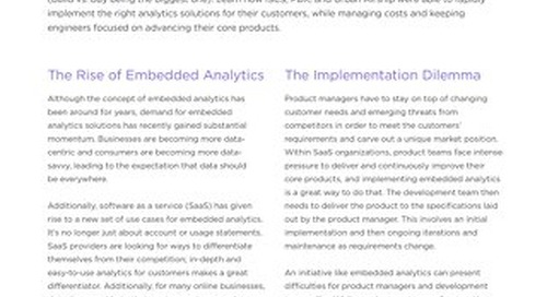 Embedded Analytics in Action