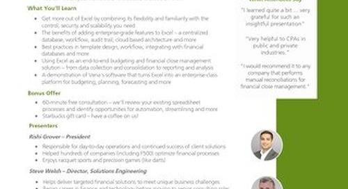 Vena Weekly Budgeting Webinars [RDS] [FGI]