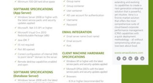 Vena Hardware Software Specifications [RDS] [FGI]