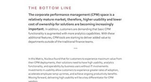 Nucleus Research CPM Technology Value Matrix 2016
