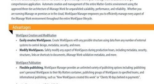 Datasheet: WorkSpace Manager