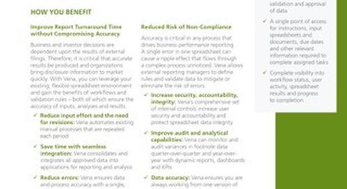 Vena Footnote Disclosure Management [RDS] [FRE]