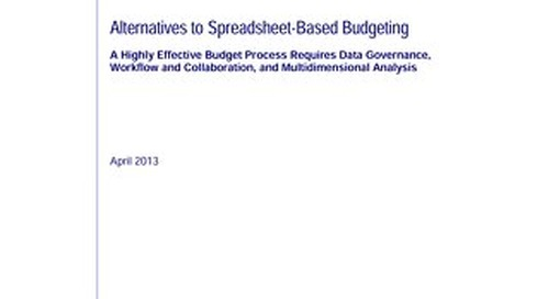 Alternatives to Spreadsheet Based Budgeting