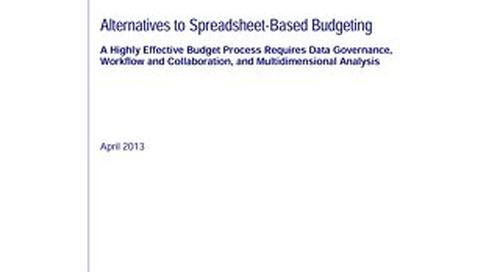 Alternatives to Spreadsheet Based Budgeting