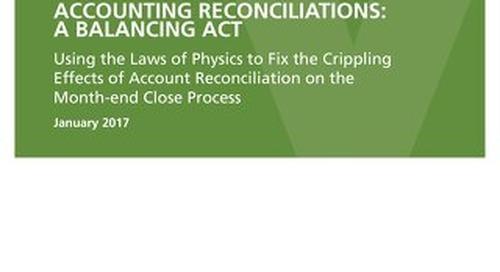 Account Reconciliations - A Balancing Act