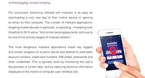 Datasheet: Irdeto Secure UI - Anti-keylogging/screen scraping