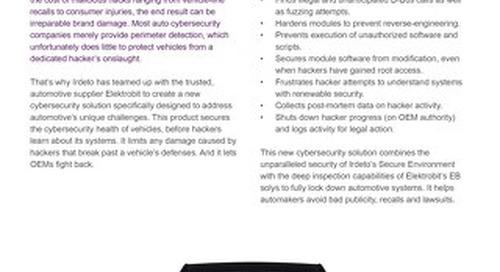 Infosheet: Pre-emptive Vehicle Protection/Elektrobit EB Solys