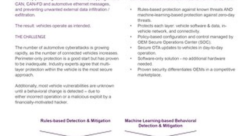 Datasheet: Cloakware for Automotive - Secure Environment