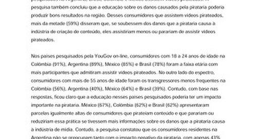 A educação sobre pirataria de mídia poderia reduzir em mais de 50% o número de latino-americanos que a praticam