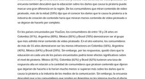 La educación sobre la piratería de los medios de comunicación podría reducir en más de un 50% la cantidad de latinoamericanos que piratean