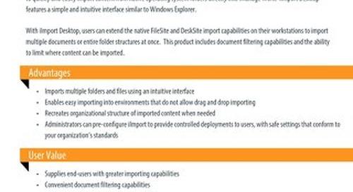Datasheet: iImport Desktop
