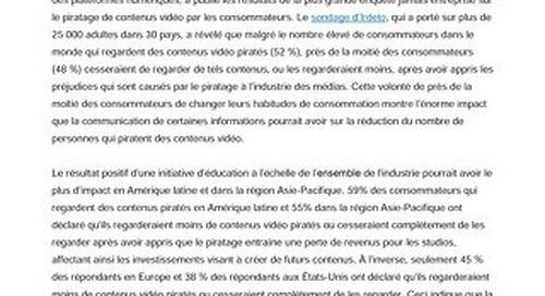 Près de la moitié des consommateurs du monde entier sont disposés à arrêter ou à moins regarder de contenus vidéo piratés
