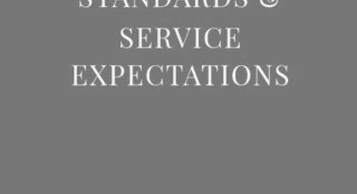 Residence Brand Standards & Service Expectations