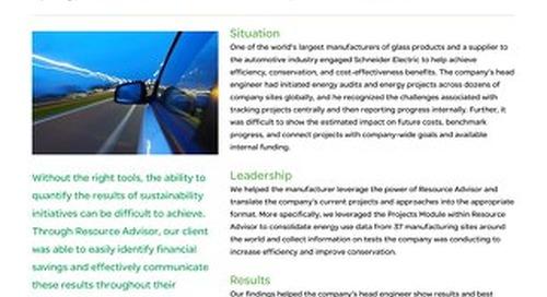Industrial Manufacturing: Resource Advisor