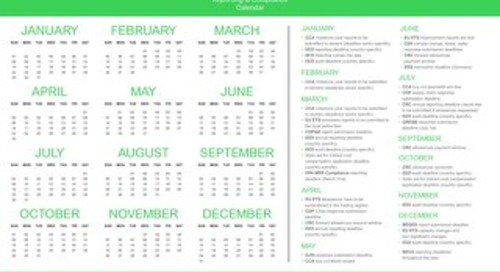 Sustainability Reporting & Compliance Calendar (2017)