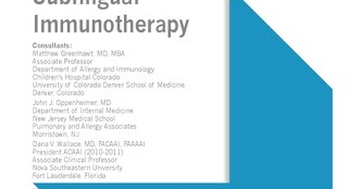 Sublingual Immunotherapy