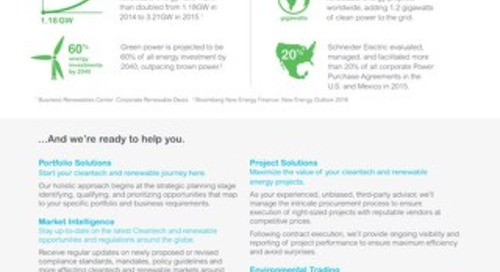 How Schneider Electric can help you meet your renewable energy goals