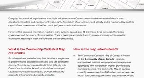 Community Cadastral Map of Canada