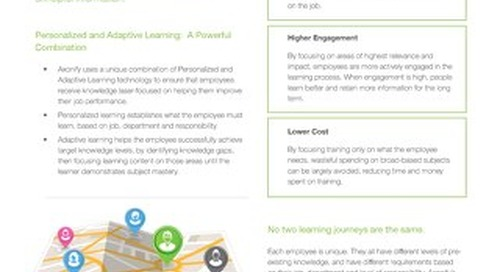 Axonify Personalized and Adaptive Learning Technology