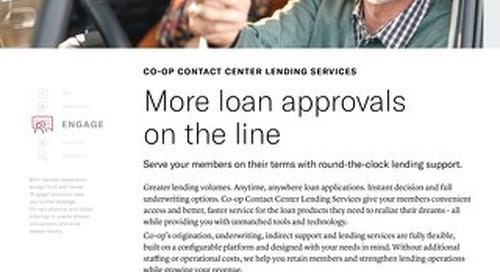 Lending Services Slipsheet