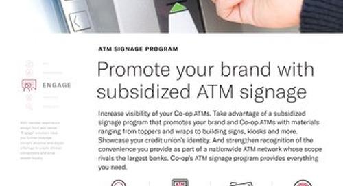 ATM Signage Slipsheet